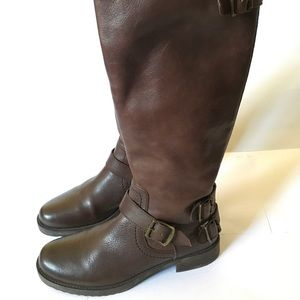 Arturo Chiang Brown Leather Knee High Riding  Boot